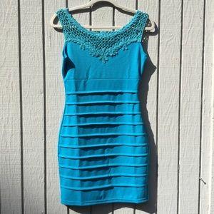 NWT blue bodycon dress